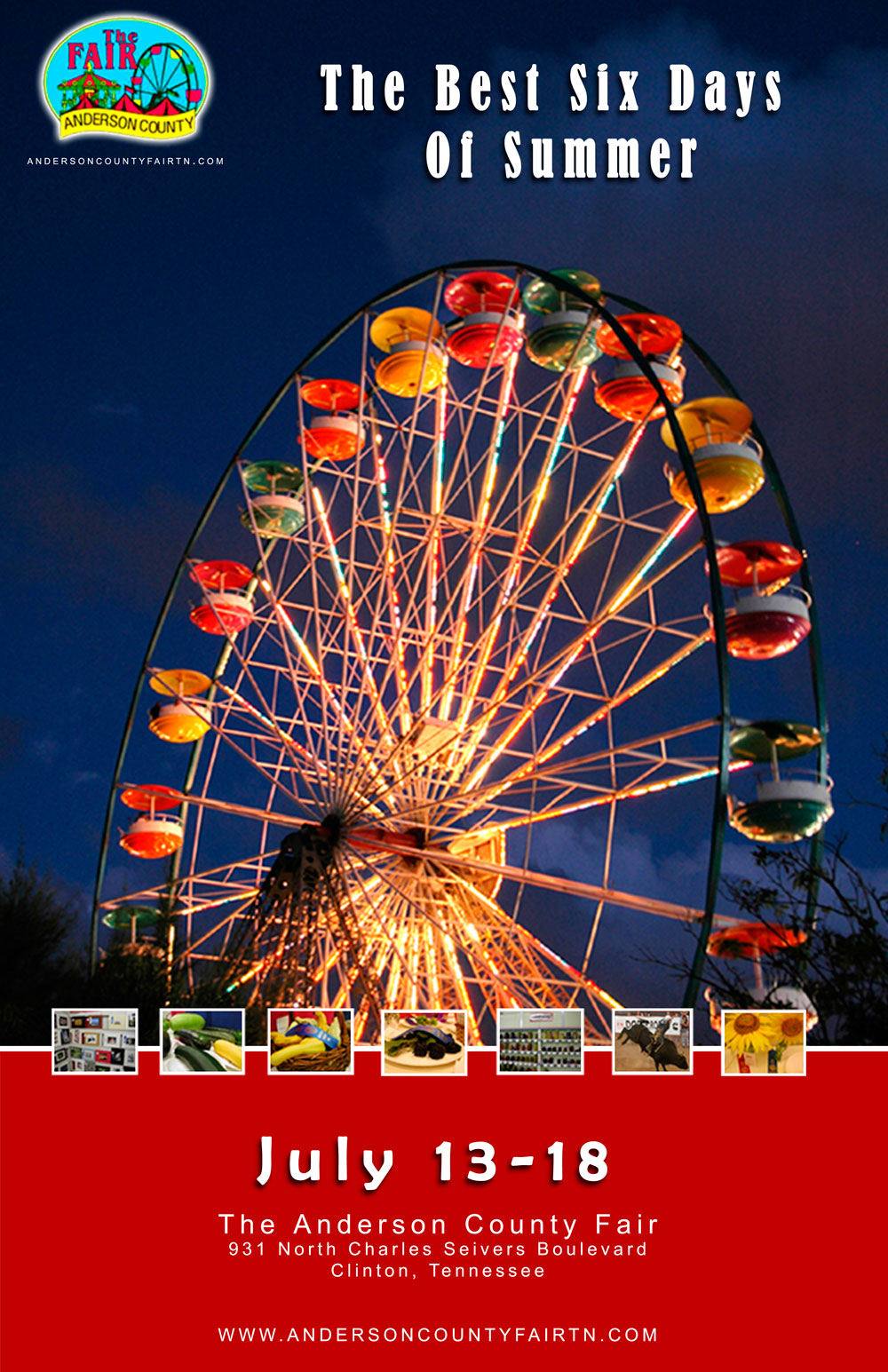 County Fair Poster Anderson county 2009 fair
